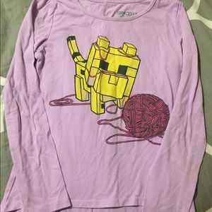 Other - Girls size 7/8 minecraft long sleeve hi low tee